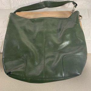 Bueno Green Leather Tote